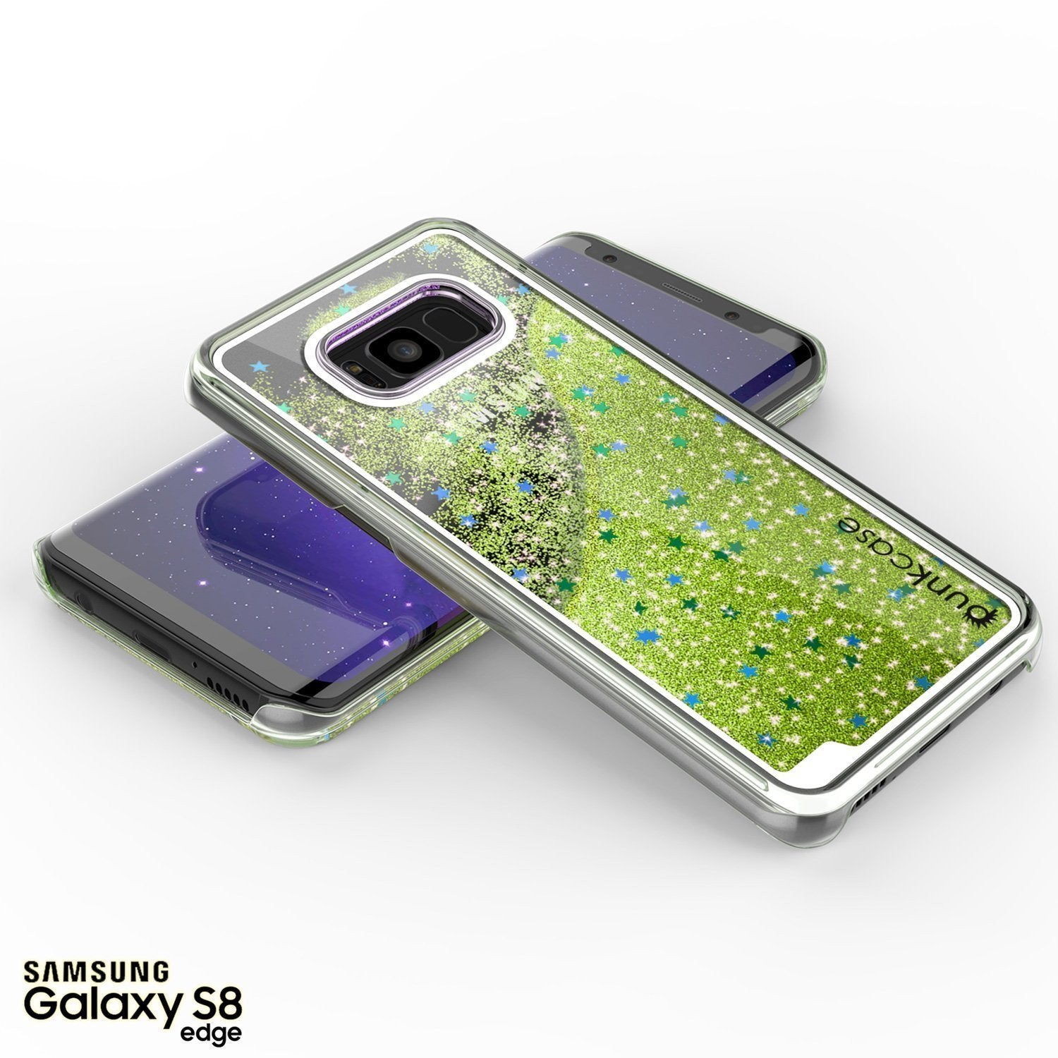 Galaxy S8 Case, Punkcase [Liquid Series] Protective Dual Layer Floating Glitter Cover with lots of Bling & Sparkle + PunkShield Screen Protector for Samsung S8 [Light Green] - PunkCase NZ