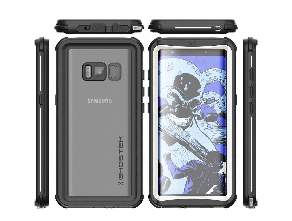 Galaxy S8 Plus Waterproof Case, Ghostek Nautical Series (White) | Slim Underwater Full Body Protection - PunkCase NZ