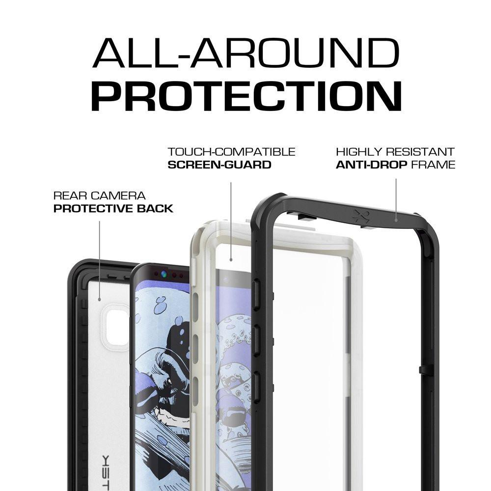 Galaxy S8 Waterproof Case, Ghostek Nautical Series (White) | Slim Underwater Full Body Protection - PunkCase NZ