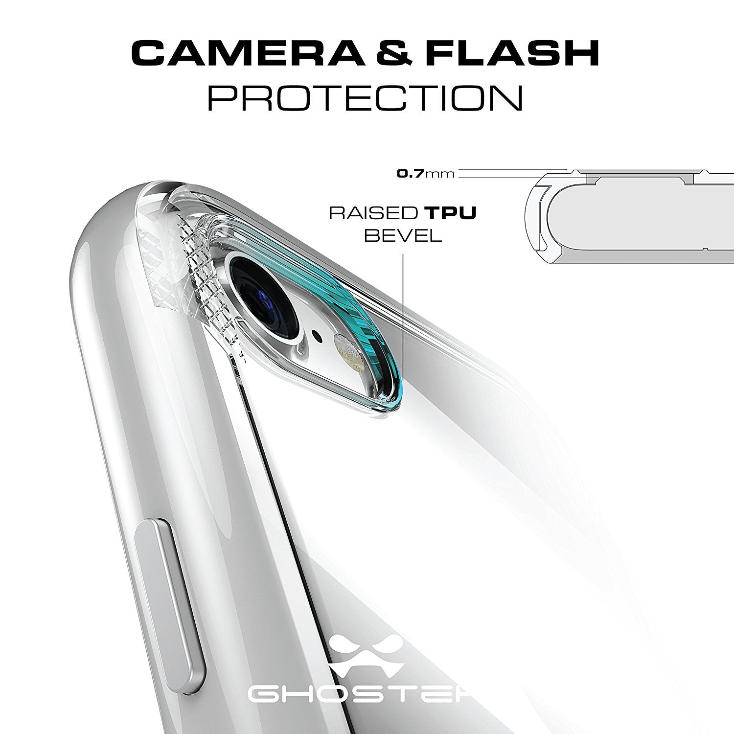 iPhone 7 Case, Ghostek Cloak 3 Series Case for iPhone 7 Case Clear Protective Case [SILVER] - PunkCase NZ