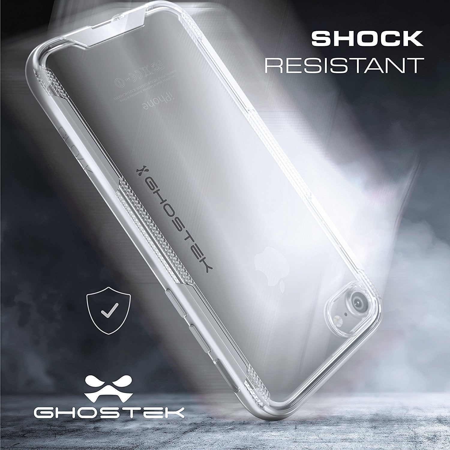 iPhone 7 Case, Ghostek Cloak 3 Series Case for iPhone 7 Case Clear Protective Case [Black] - PunkCase NZ