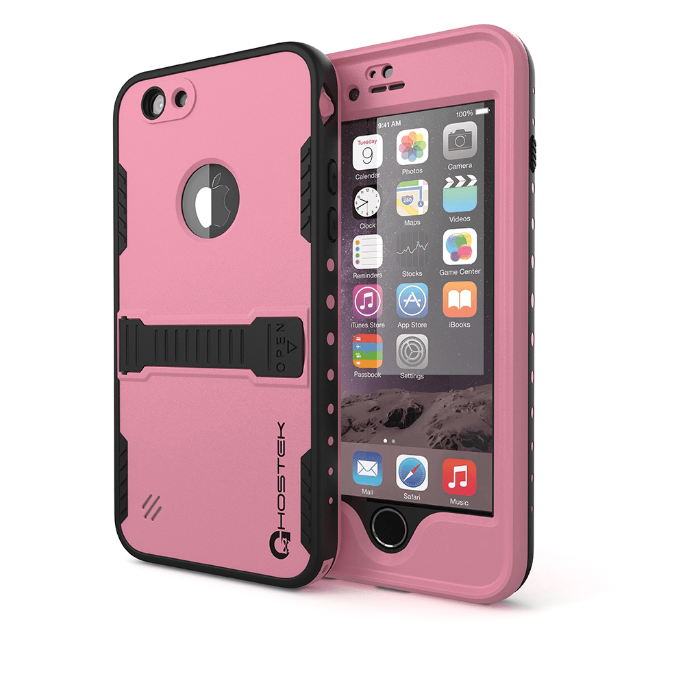 iPhone 6 Plus Waterproof Case, Ghostek Atomic Pink w/ Attached Screen Protector - Lifetime Warranty