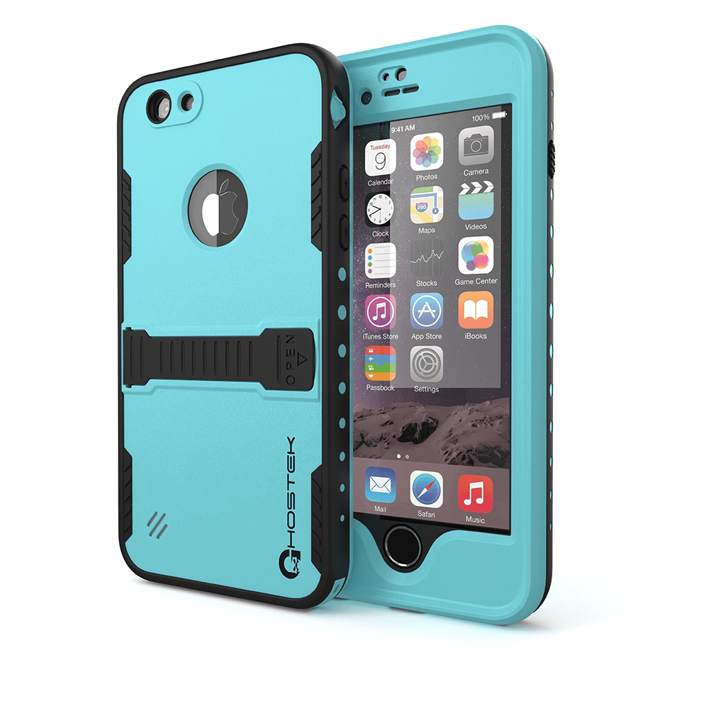 iPhone 6 Plus Waterproof Case, Ghostek Atomic Teal w/ Attached Screen Protector - Lifetime Warranty