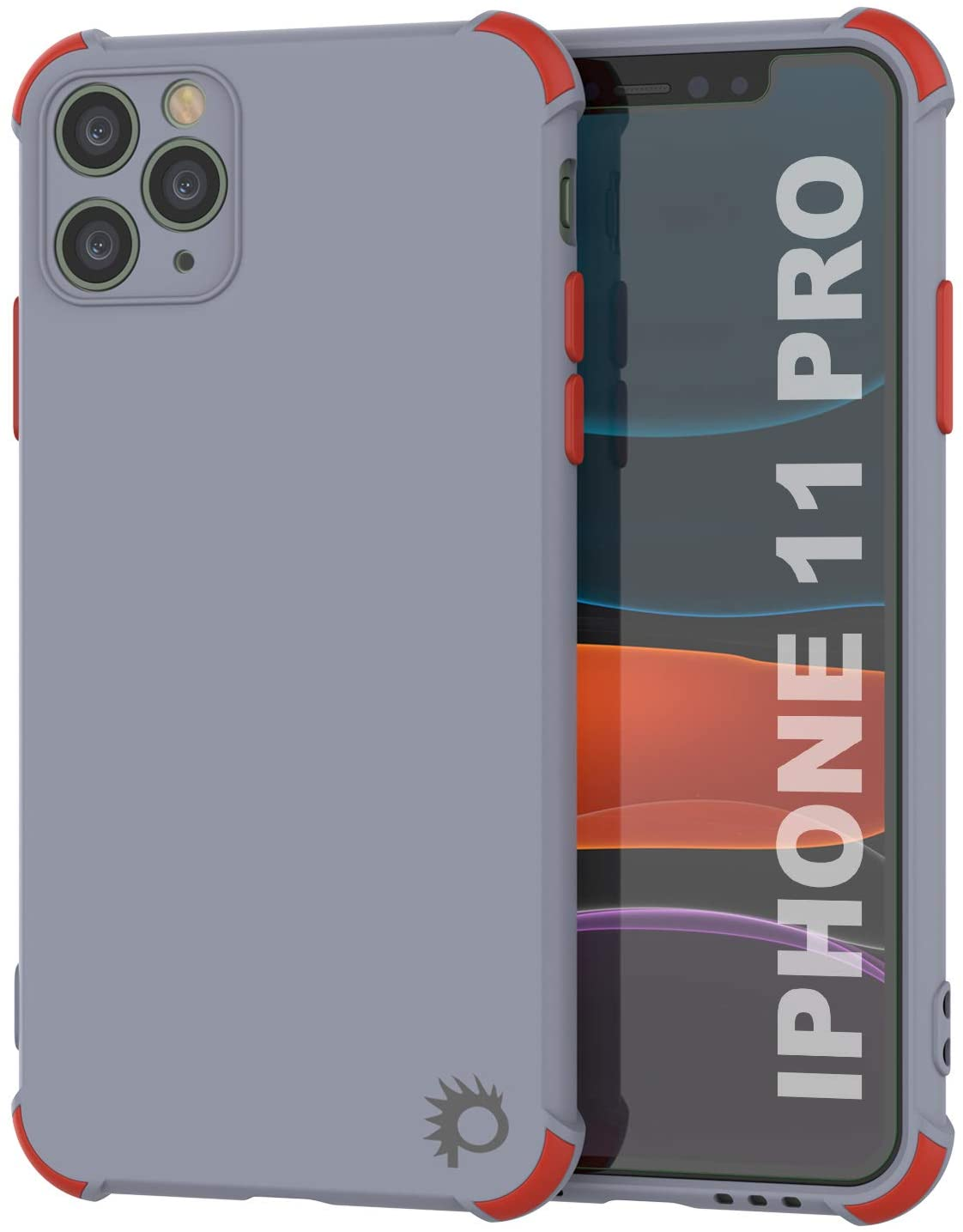 Punkcase Protective & Lightweight TPU Case [Sunshine Series] for iPhone 11 Pro [Grey]