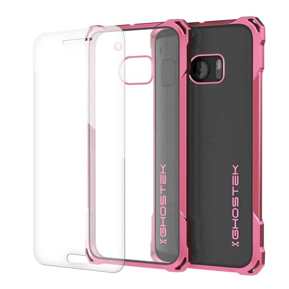 HTC 10 Case, Ghostek® Covert Pink Series Premium Slim Hybrid | w/Screen Protector | Ultra Fit