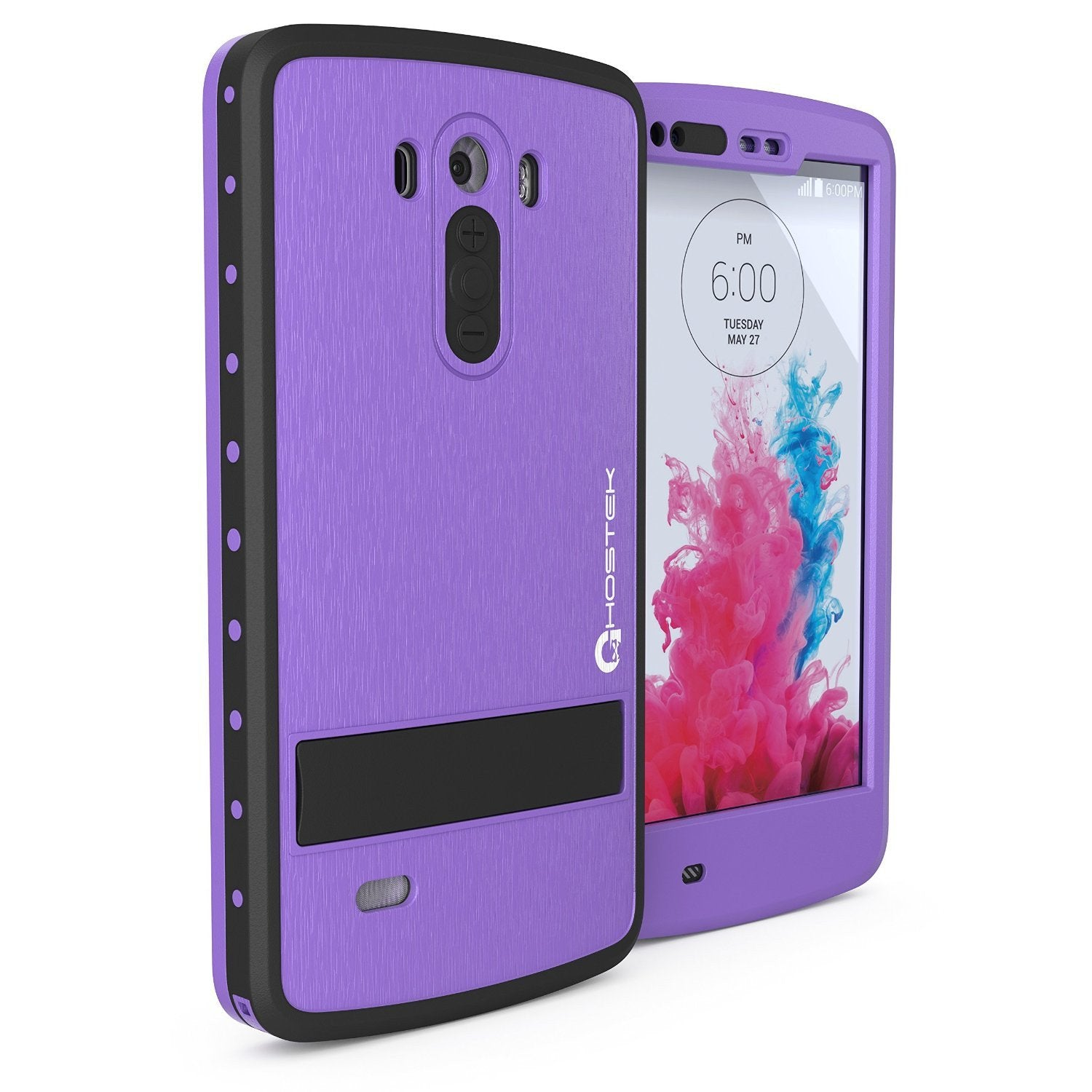 LG G3 Waterproof Case, Ghostek Atomic PURPLE W/ Attached Screen Protector  Slim Fitted  LG G3