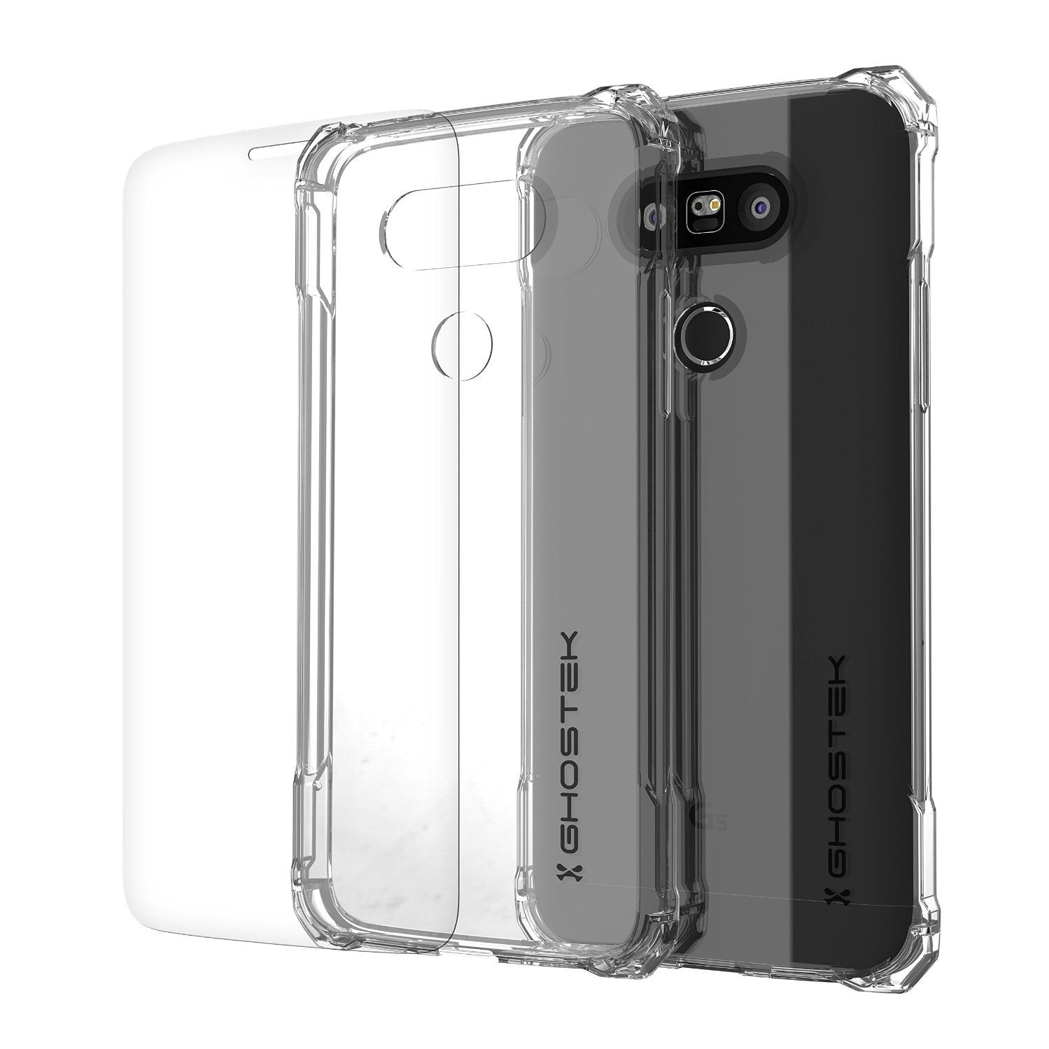 LG G5 Case, Ghostek® Clear Covert Premium Slim Hybrid Protective Cover | Lifetime Warranty Exchange - PunkCase NZ