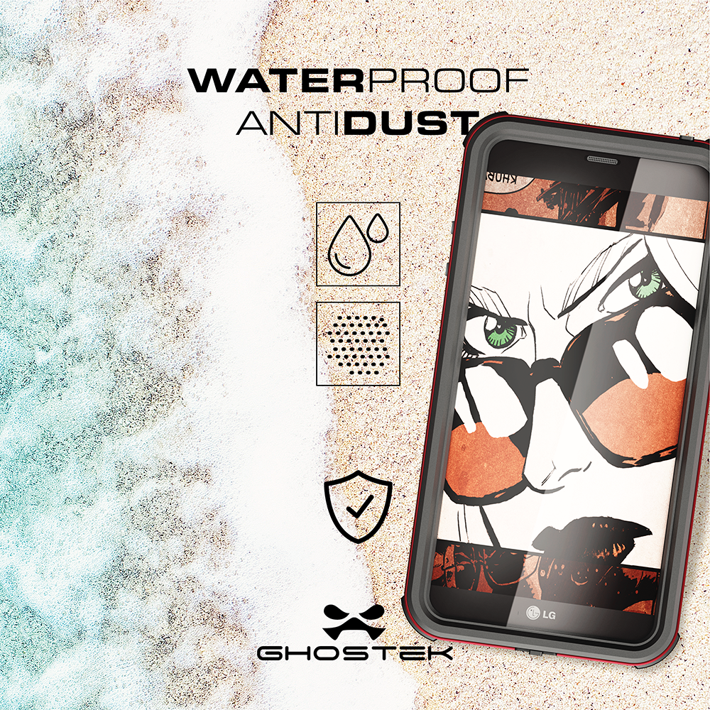 LG G6 WATERPROOF CASE | ATOMIC 3 SERIES | SILVER - PunkCase NZ