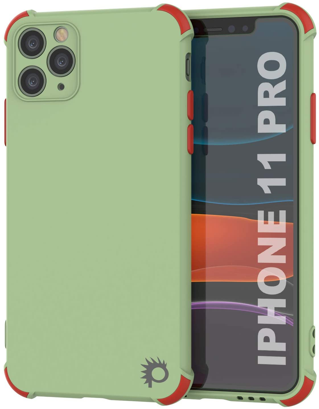 Punkcase Protective & Lightweight TPU Case [Sunshine Series] for iPhone 11 Pro [Light Green]
