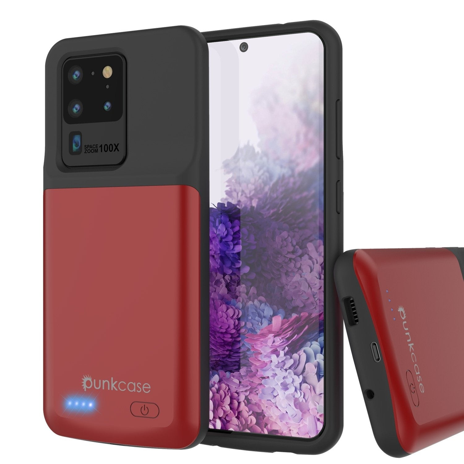 PunkJuice S20 Ultra Battery Case Red - Fast Charging Power Juice Bank with 6000mAh