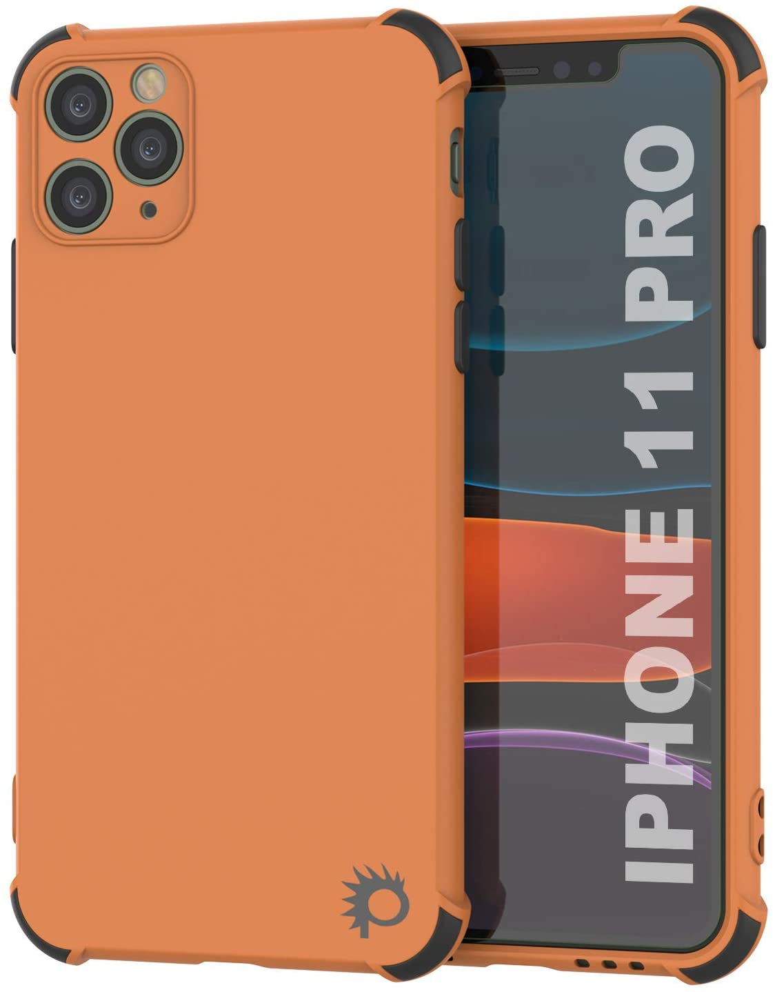 Punkcase Protective & Lightweight TPU Case [Sunshine Series] for iPhone 11 Pro [Orange]