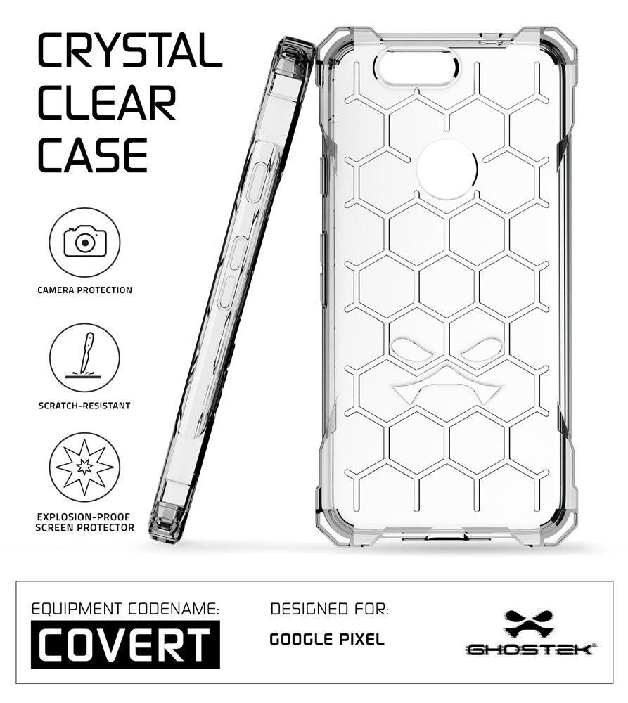 Google Pixel Case, Ghostek® Covert Clear, Premium Impact Protective Armor | Lifetime Warranty Exchange - PunkCase NZ