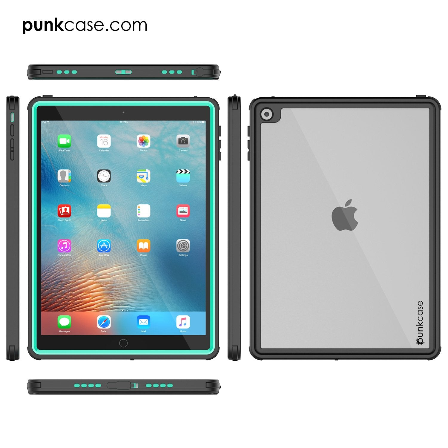 Punkcase iPad Pro 9.7 Case [CRYSTAL Series], Waterproof, Ultra-Thin Cover [Shockproof] [Dustproof] with Built-in Screen Protector [Teal] - PunkCase NZ