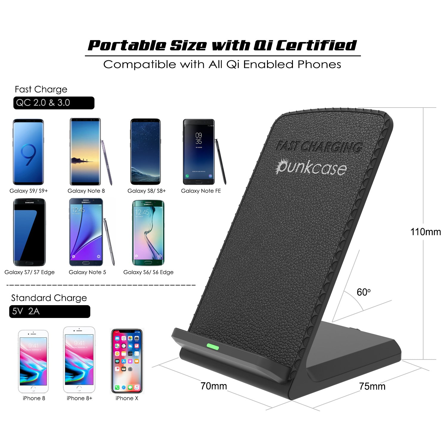 Wireless Charger - Black - PunkCase NZ