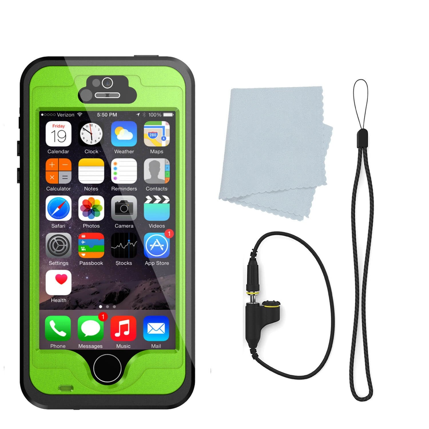 iPhone 5S/5 Waterproof Case, PunkCase StudStar Light Green Case Water/ShockProof | Lifetime Warranty - PunkCase NZ