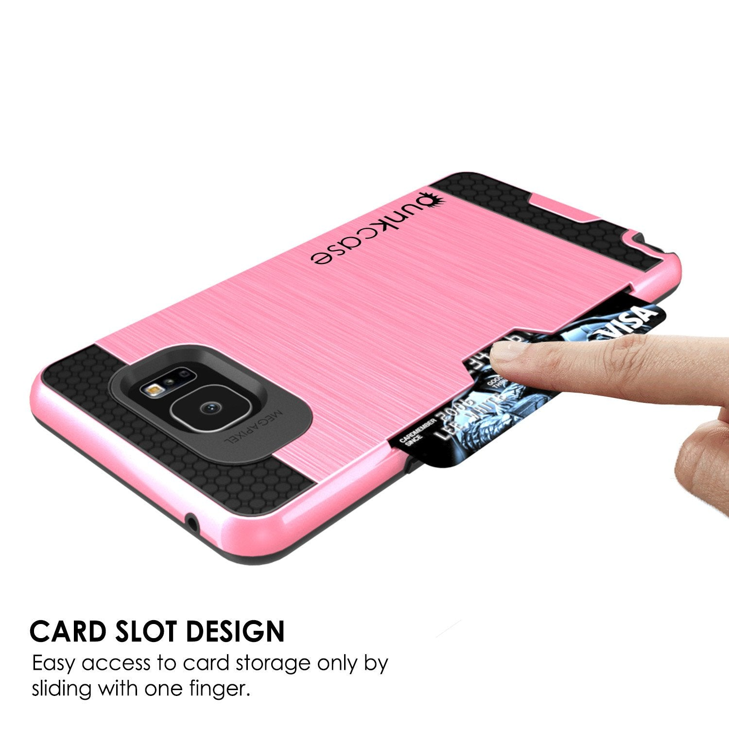 Galaxy Note 5 Case PunkCase SLOT Pink Series Slim Armor Soft Cover Case w/ Tempered Glass - PunkCase NZ