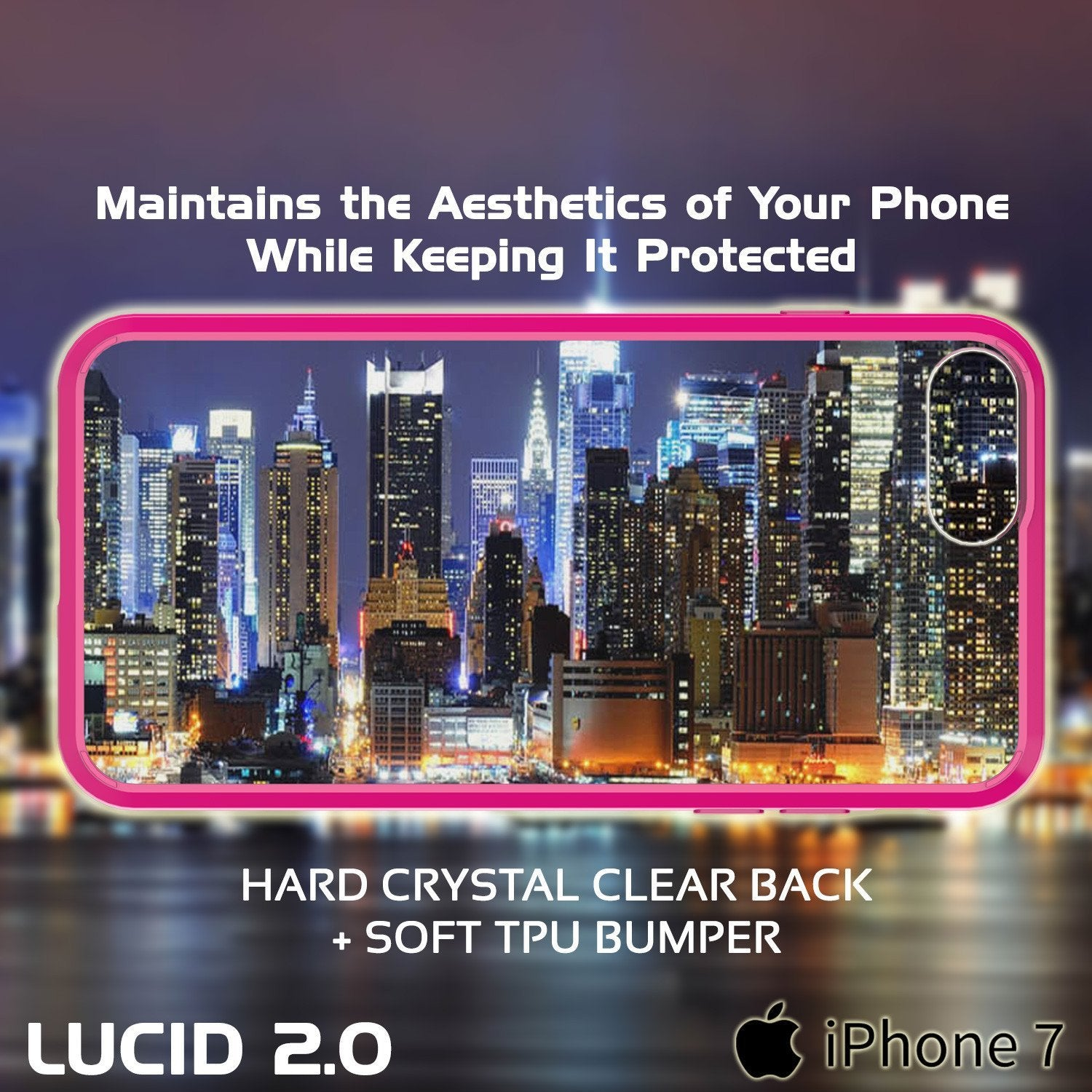 iPhone 8+ Plus Case Punkcase® LUCID 2.0 Pink Series w/ PUNK SHIELD Screen Protector | Ultra Fit - PunkCase NZ