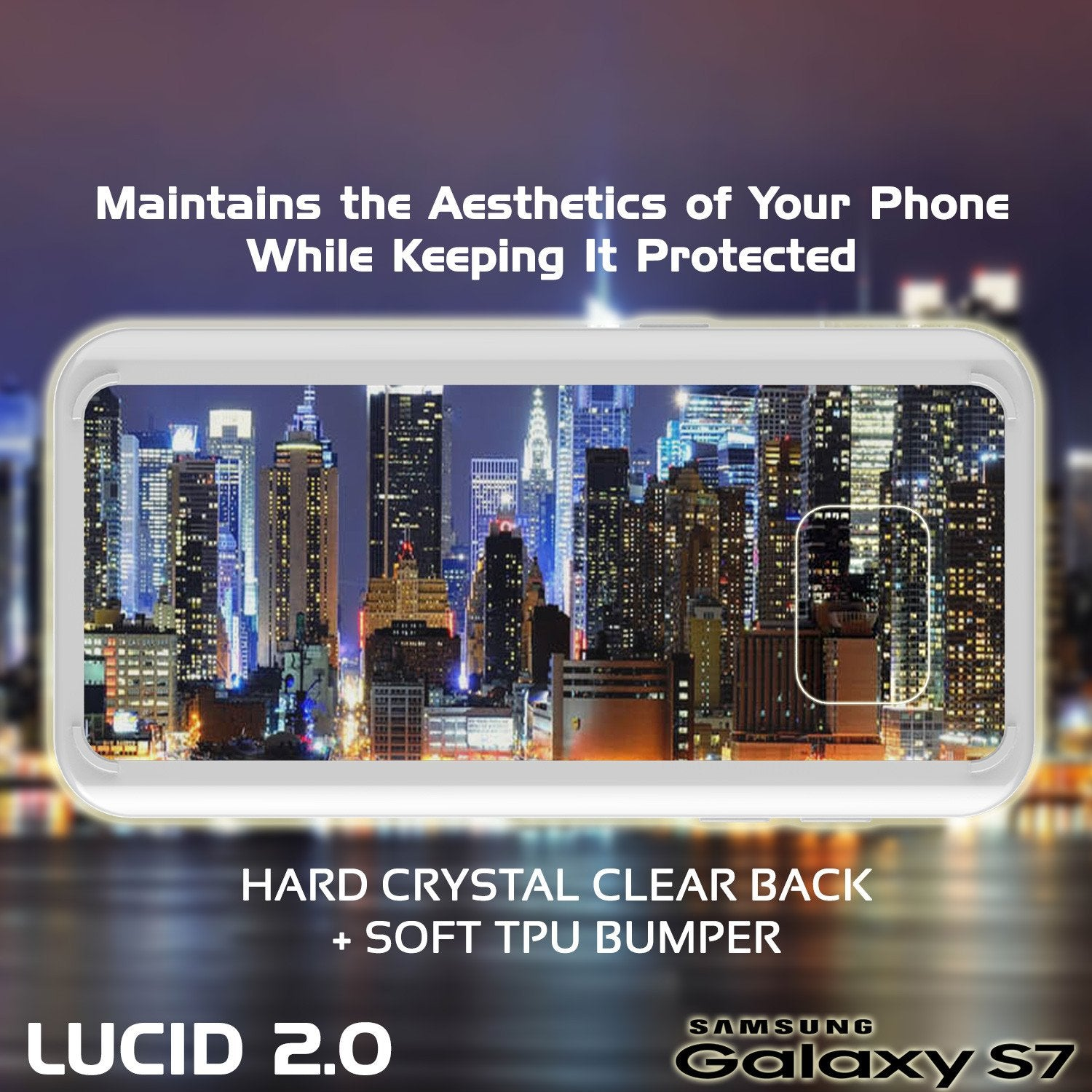 S7 Case Punkcase® LUCID 2.0 White Series w/ PUNK SHIELD Glass Screen Protector | Ultra Fit - PunkCase NZ