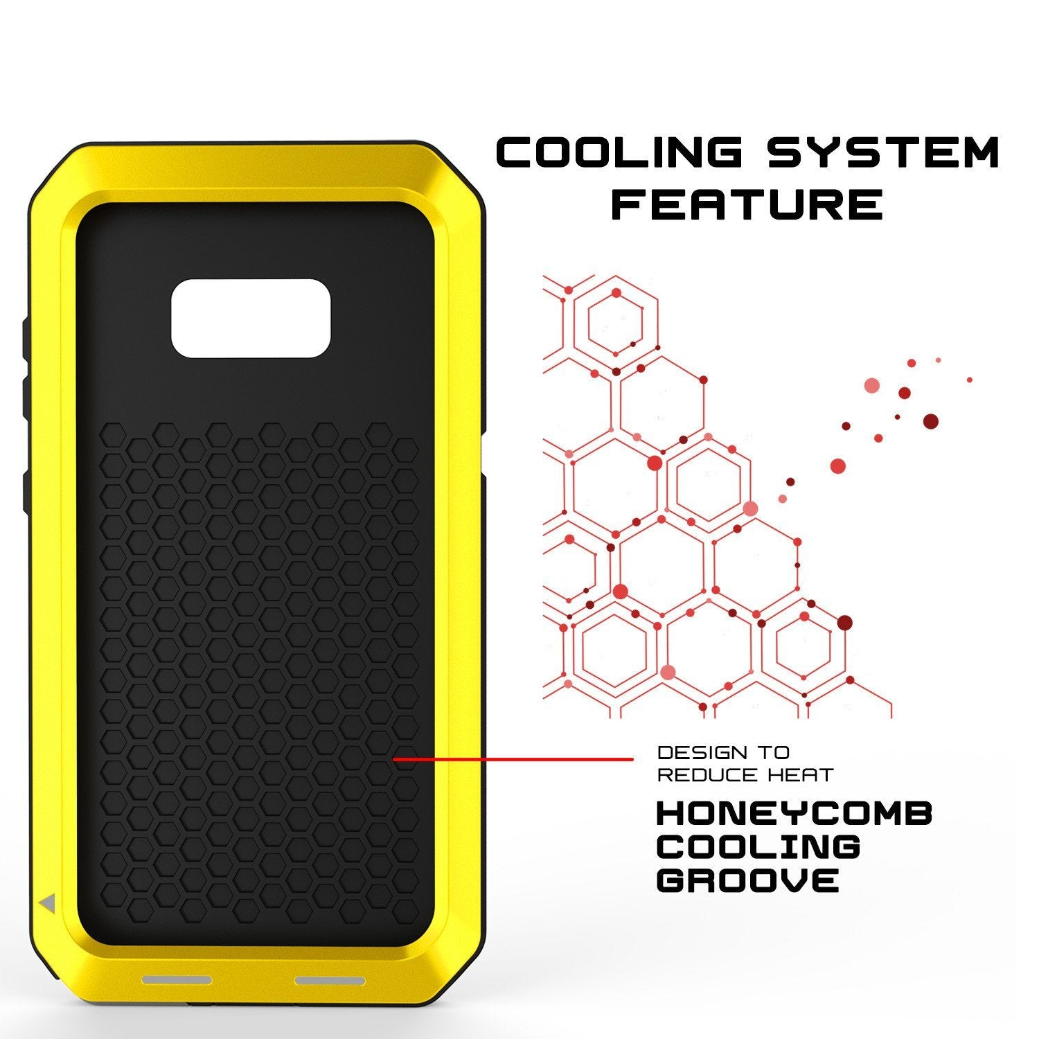 Galaxy Note 8  Case, PUNKcase Metallic Neon Shockproof  Slim Metal Armor Case [Yellow] - PunkCase NZ