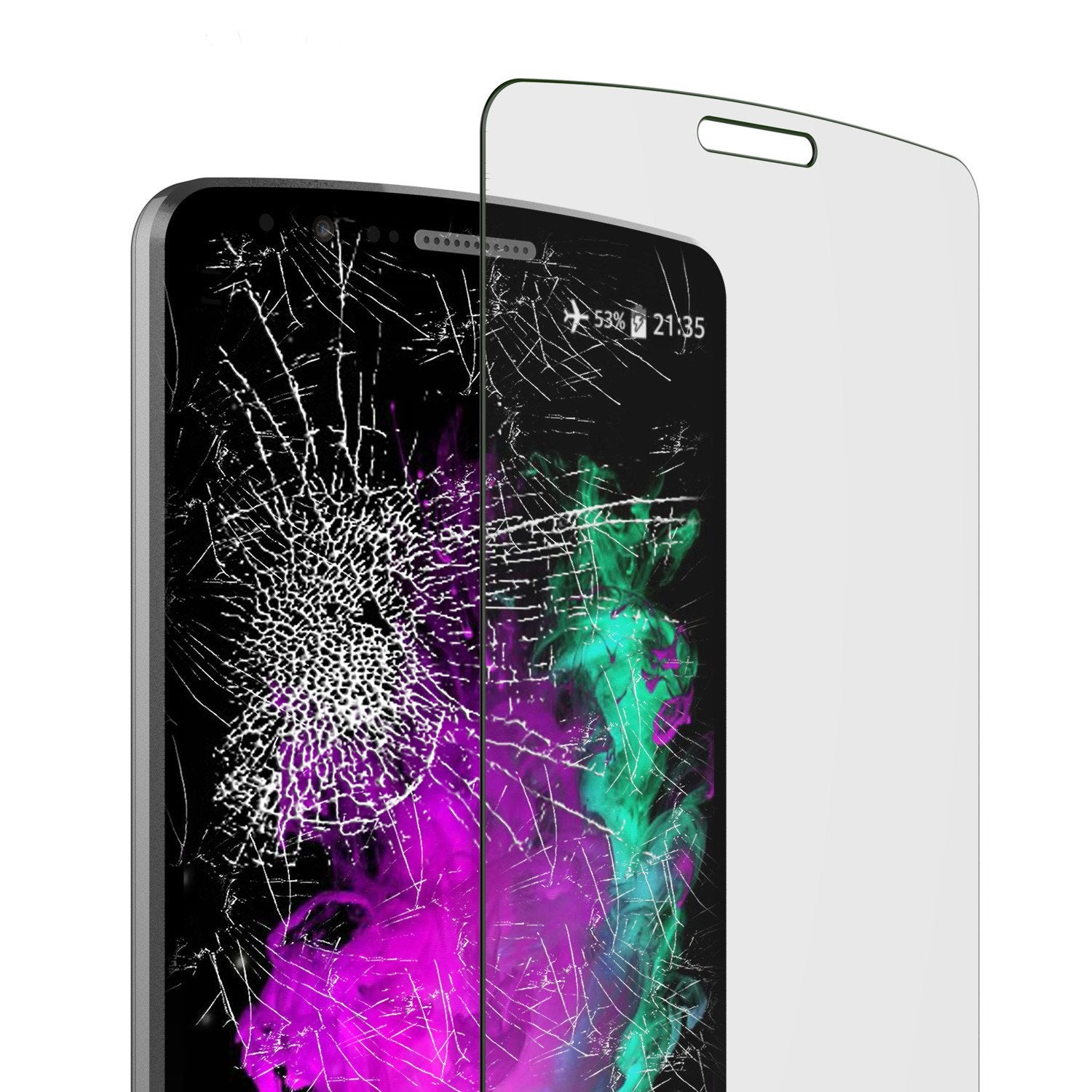 LG G3 Punkcase Glass SHIELD Tempered Glass Screen Protector 0.33mm Thick 9H Glass - PunkCase NZ