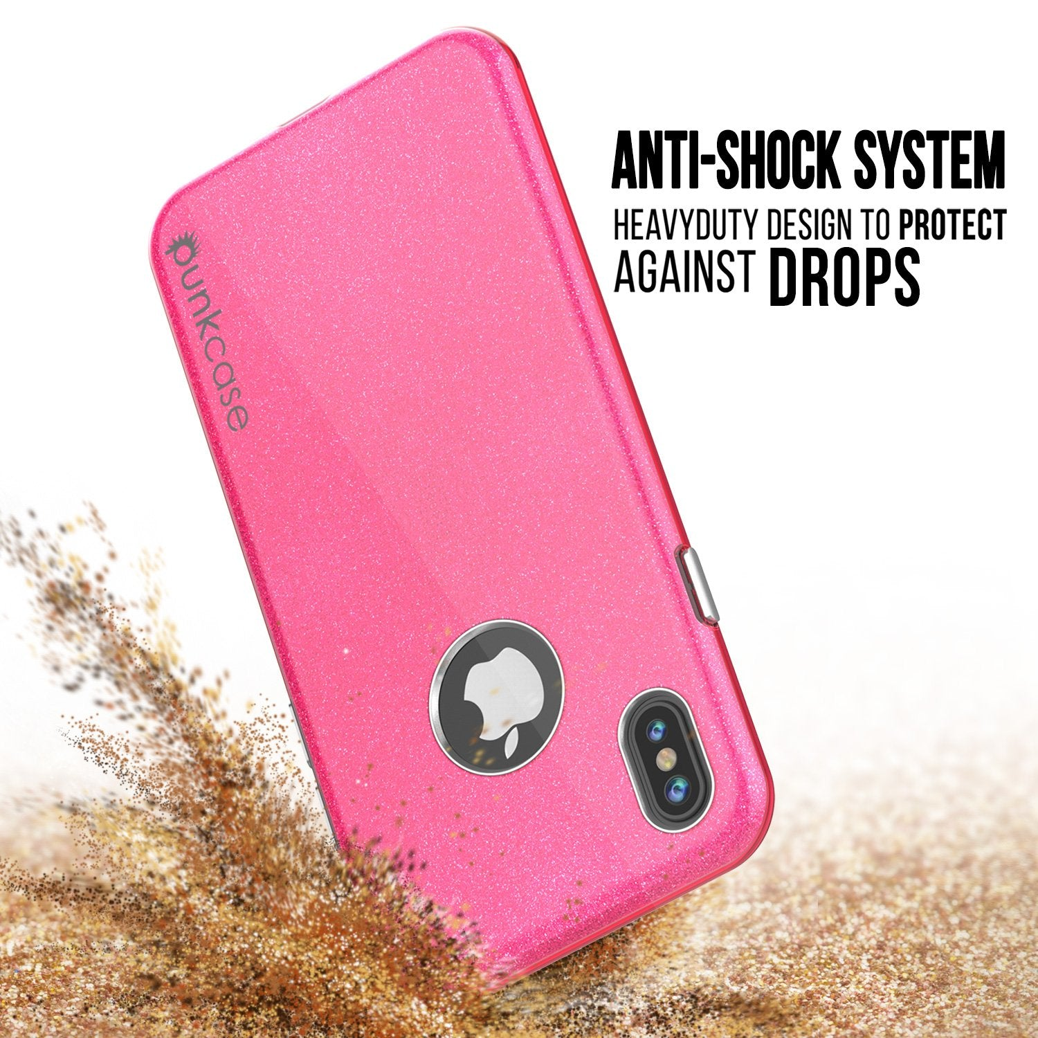 iPhone X Case, Punkcase Galactic 2.0 Series Ultra Slim w/ Tempered Glass Screen Protector | [Pink] - PunkCase NZ