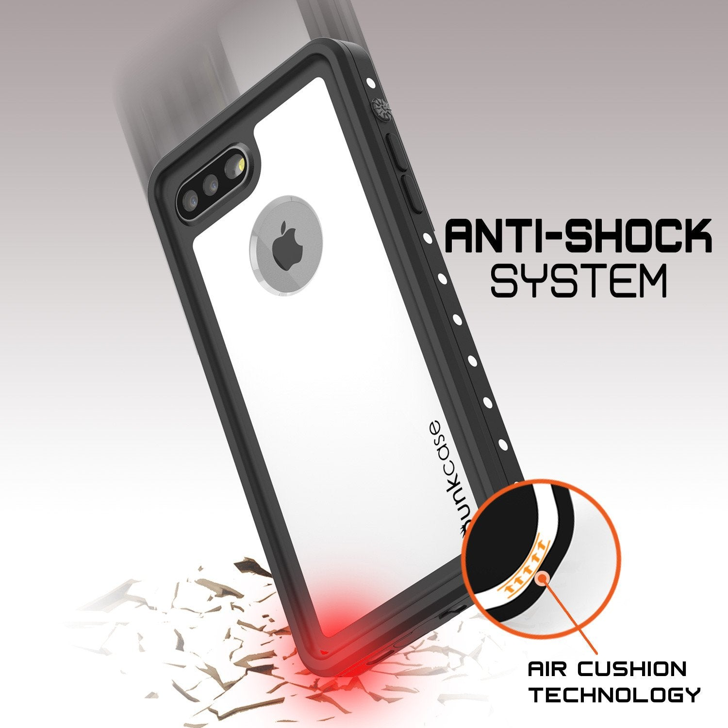 iPhone 7+ Plus Waterproof IP68 Case, Punkcase [White] [StudStar Series] [Slim Fit] [Dirtproof] - PunkCase NZ