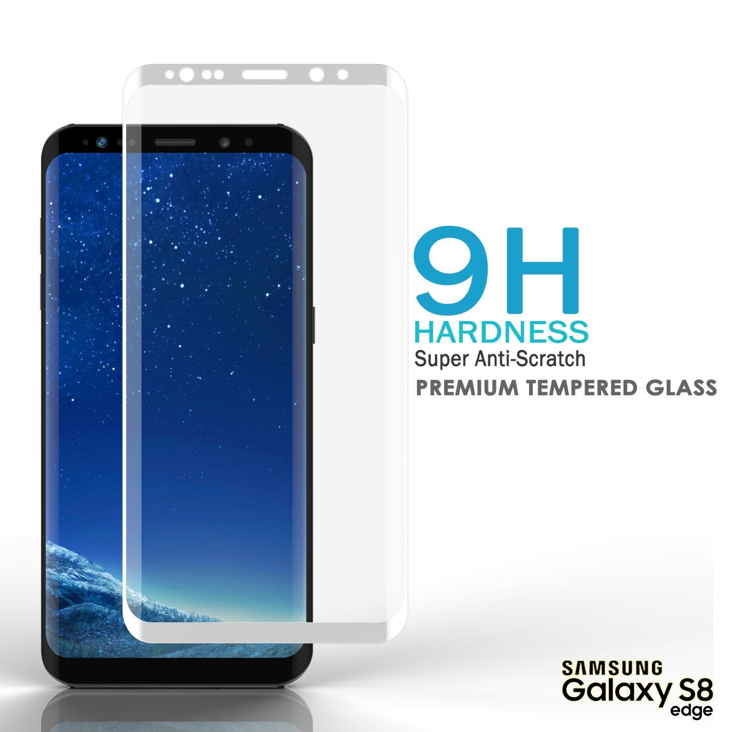 Galaxy S8  White Punkcase Glass SHIELD Tempered Glass Screen Protector 0.33mm Thick 9H Glass - PunkCase NZ
