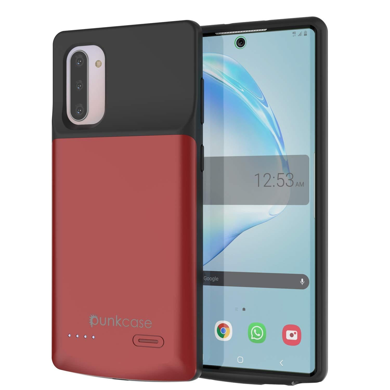 Galaxy Note 10 5200mAH Battery Charger W/ USB Port Slim Case [Red]