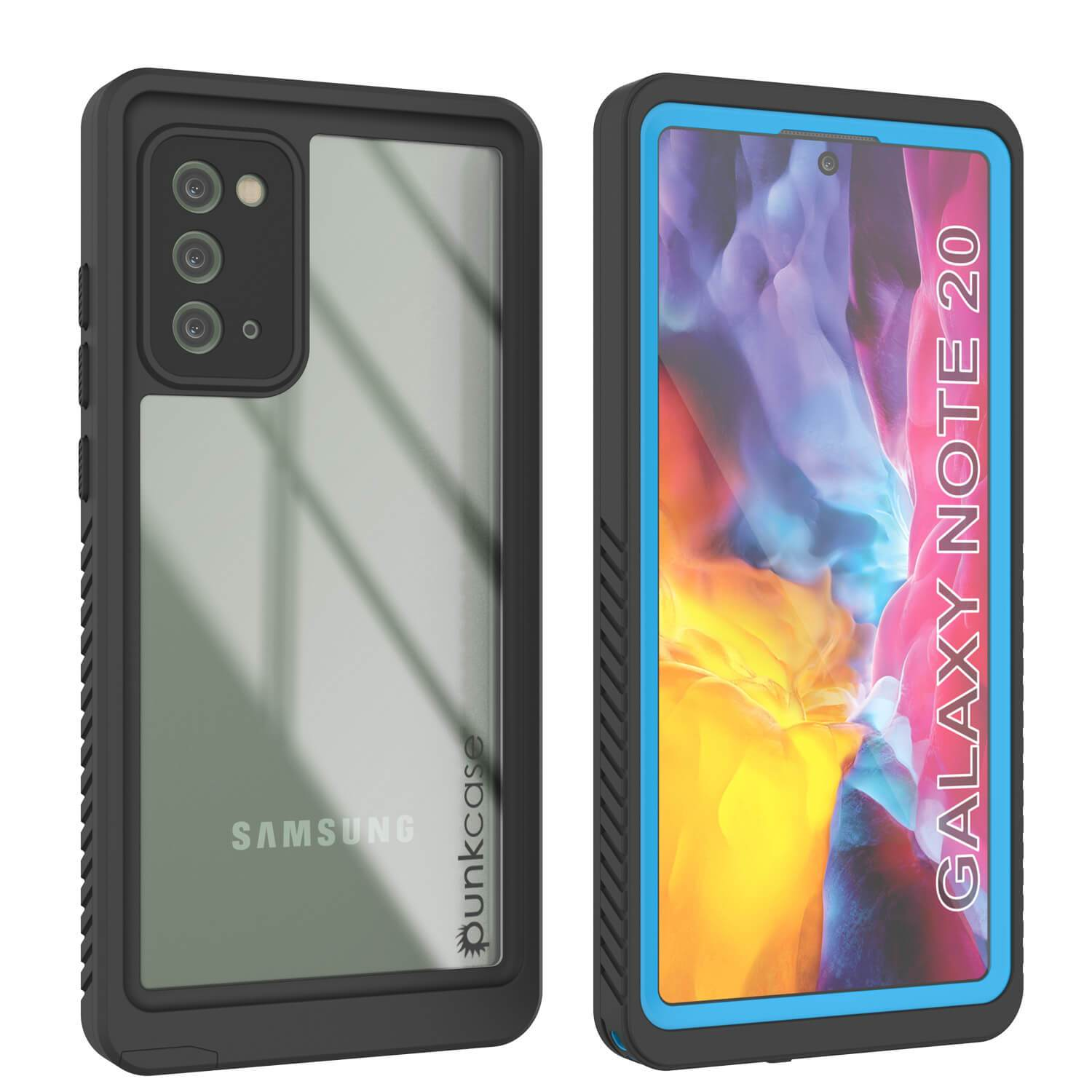 Galaxy Note 20 Case, Punkcase [Extreme Series] Armor Cover W/ Built In Screen Protector [Light Blue]