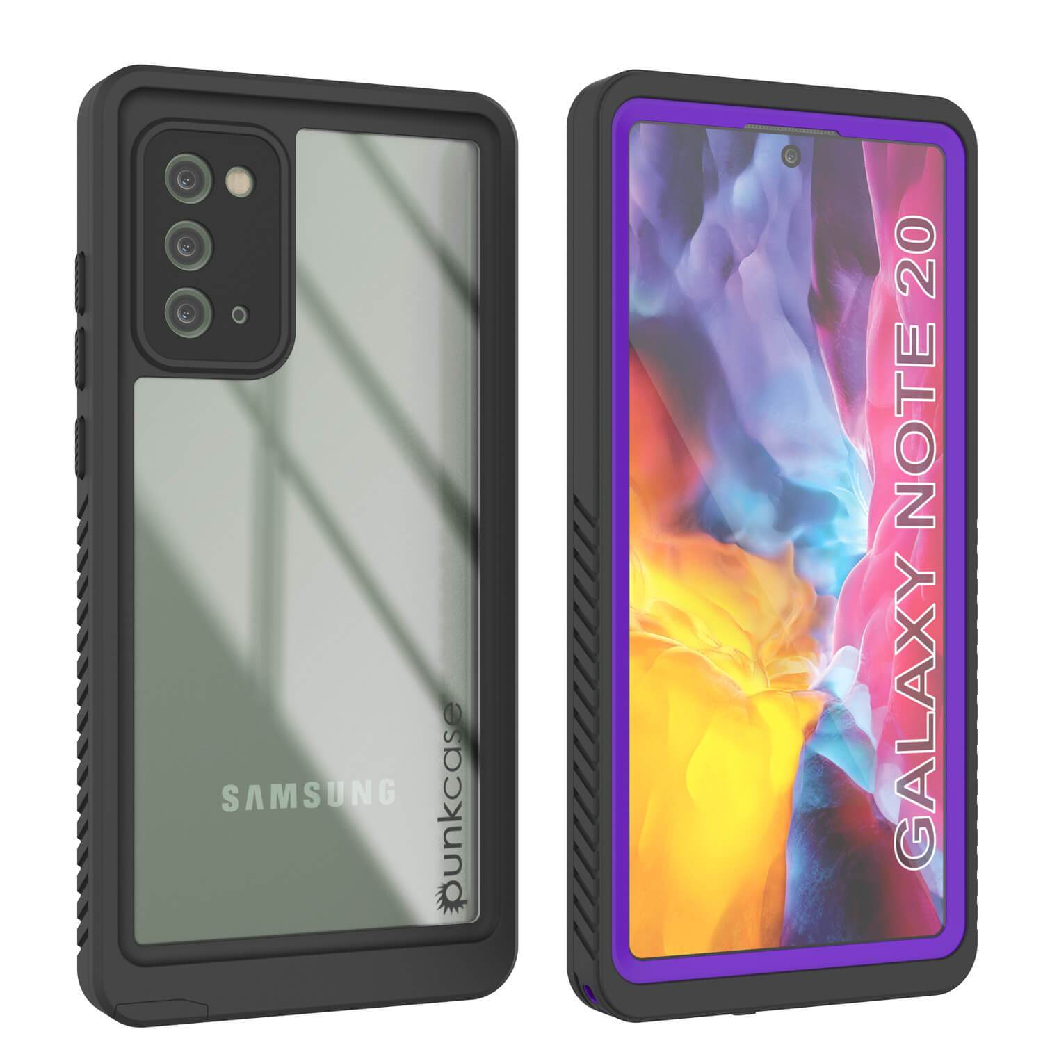 Galaxy Note 20 Case, Punkcase [Extreme Series] Armor Cover W/ Built In Screen Protector [Purple]