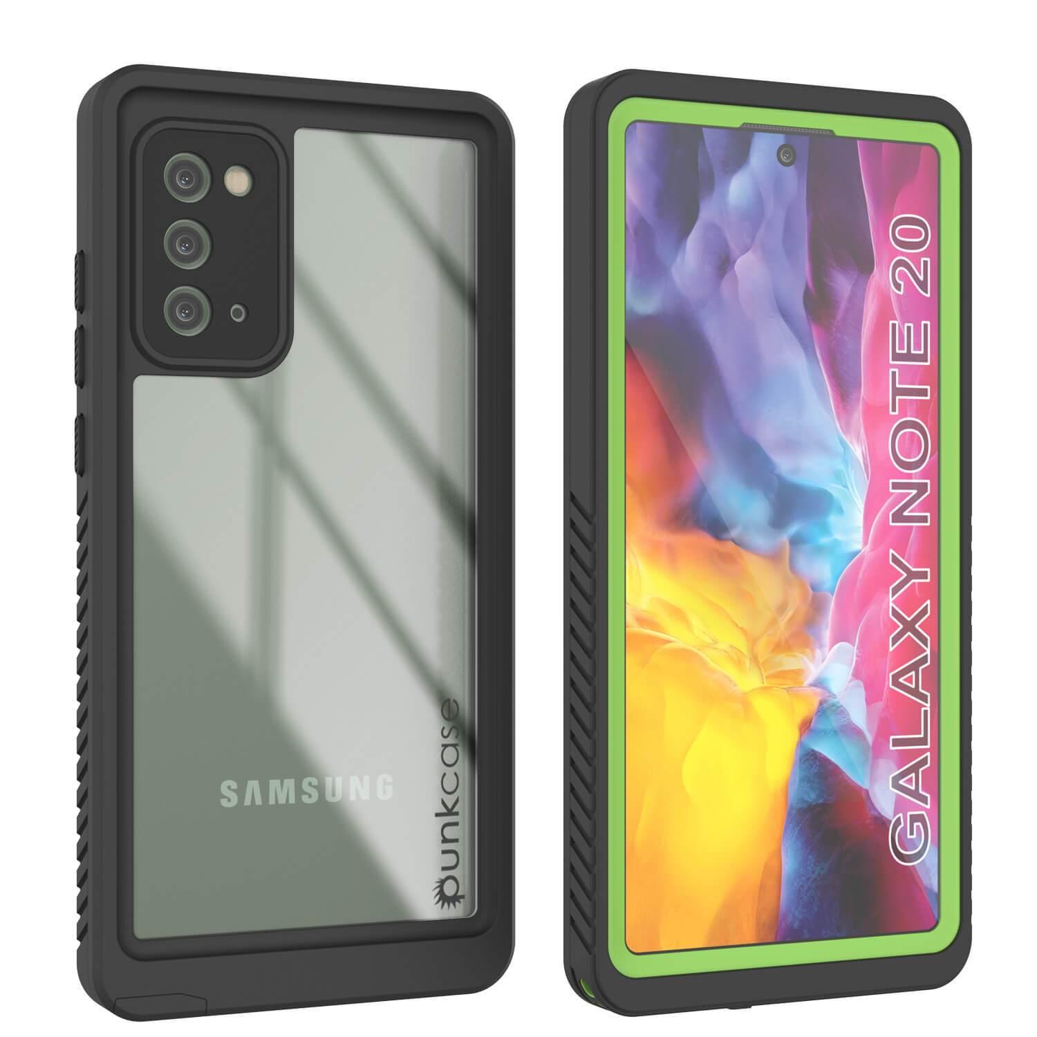 Galaxy Note 20 Case, Punkcase [Extreme Series] Armor Cover W/ Built In Screen Protector [Light Green]