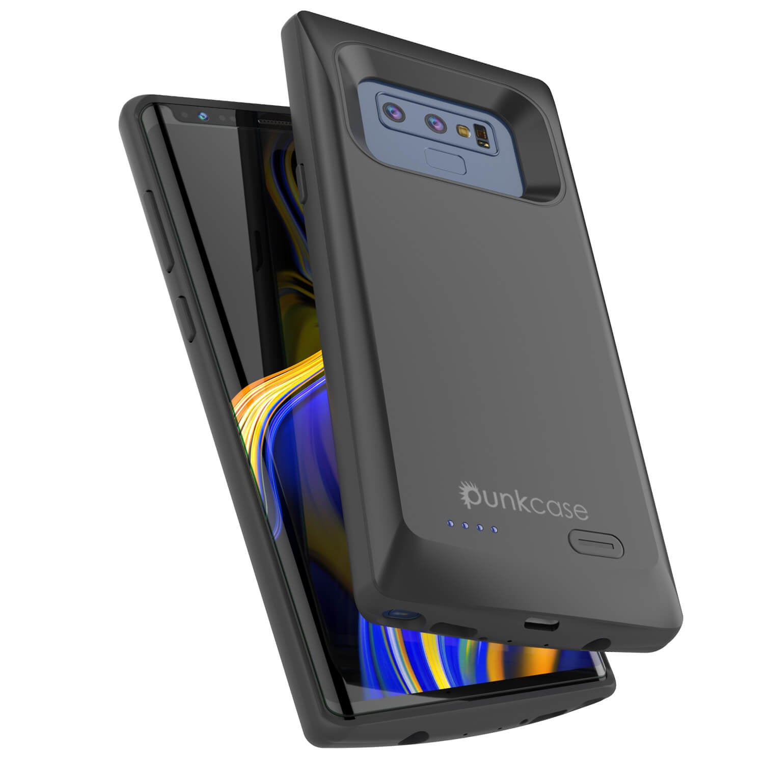 Galaxy Note 9 5000mAH Battery Charger W/ USB Port Slim Case [Black] - PunkCase NZ