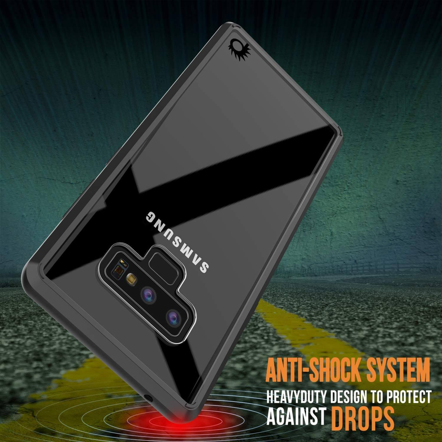 Galaxy Note 9 Case, PUNKcase [LUCID 2.0 Series] [Slim Fit] Armor Cover W/Integrated Anti-Shock System [Black] - PunkCase NZ