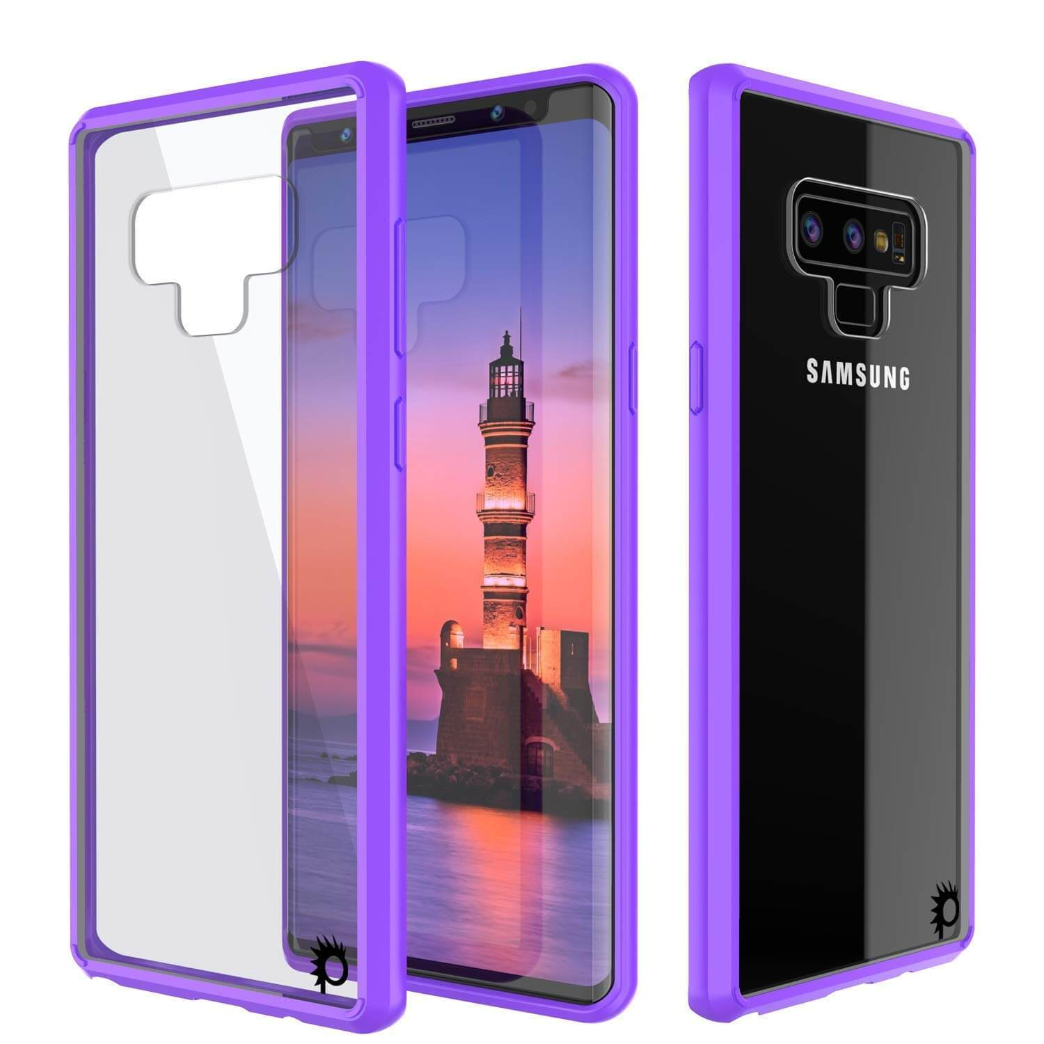 Galaxy Note 9 Case, PUNKcase [LUCID 2.0 Series] [Slim Fit] Armor Cover W/Integrated Anti-Shock System [Purple]