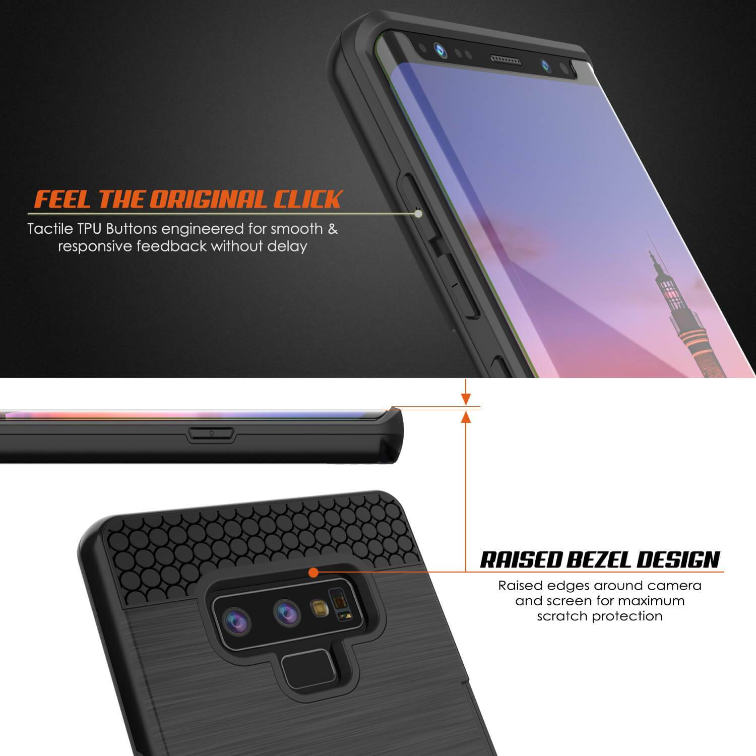 Galaxy Note 9 Case, PUNKcase [SLOT Series] Slim Fit  Samsung Note 9 [Black] - PunkCase NZ