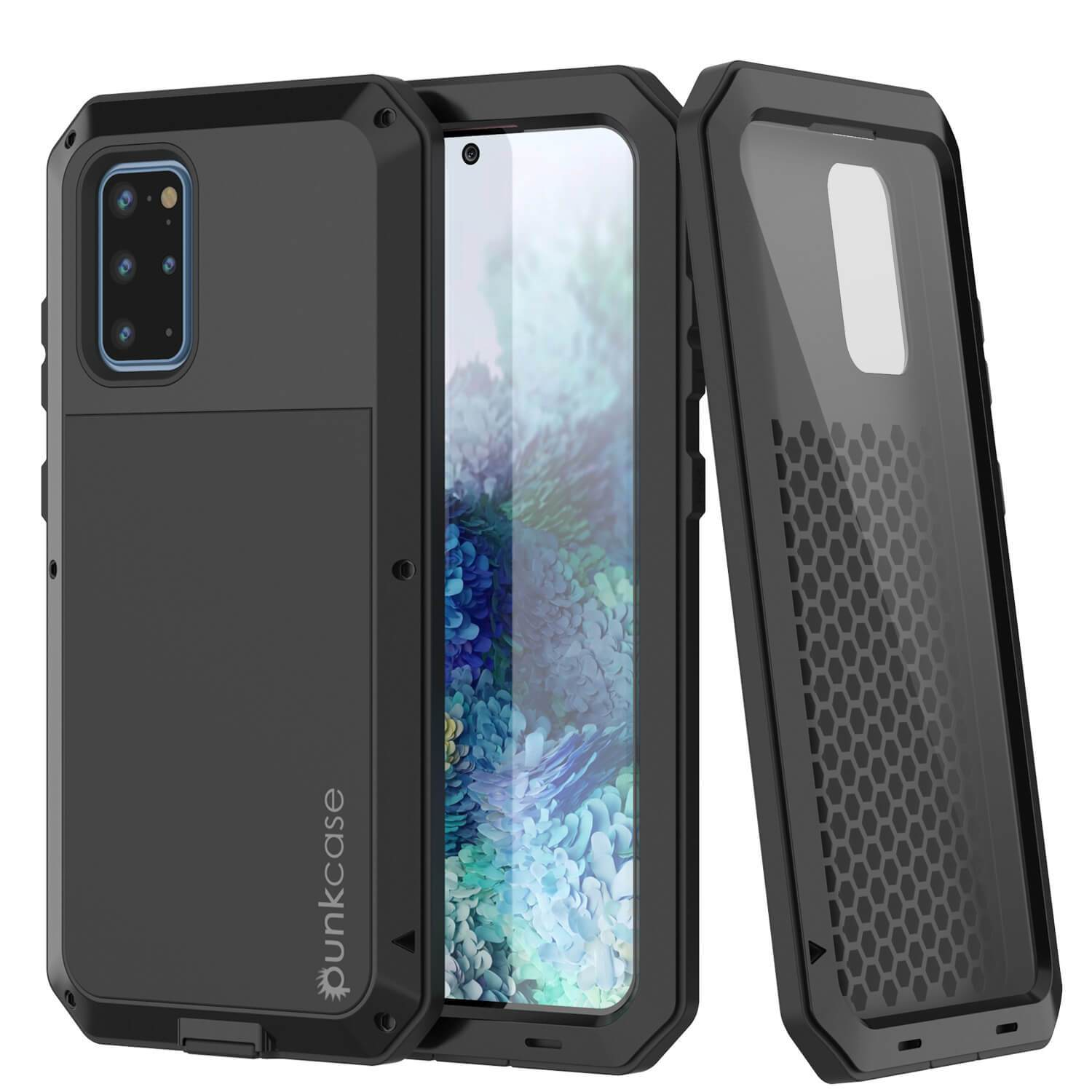 Galaxy s20+ Plus Metal Case, Heavy Duty Military Grade Rugged Armor Cover [Black]