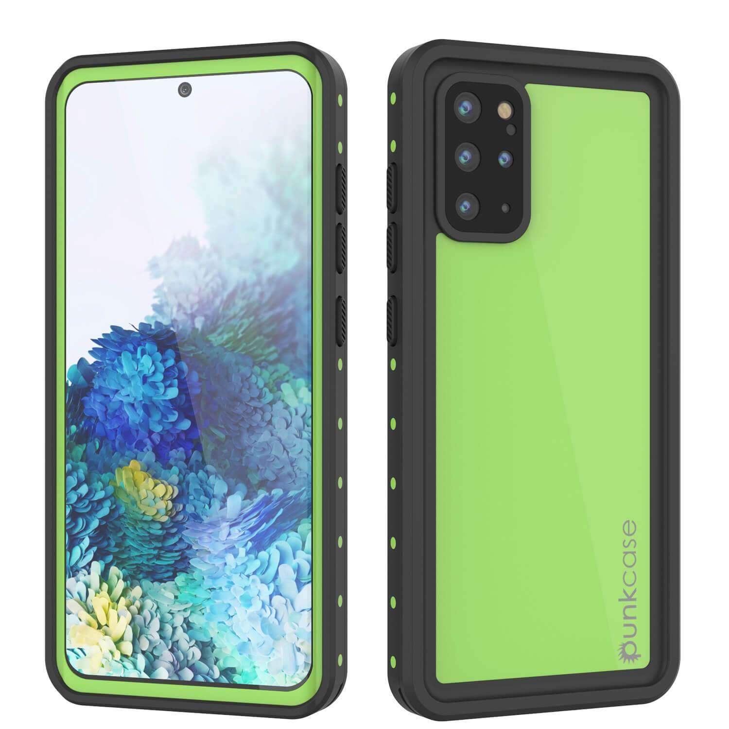 Galaxy S20+ Plus Waterproof Case PunkCase StudStar Light Green Thin 6.6ft Underwater IP68 ShockProof
