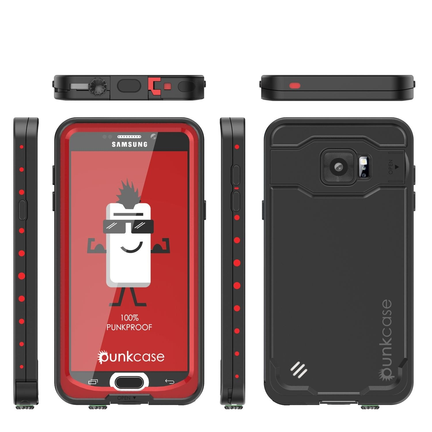 Galaxy Note 5 Waterproof Case, Punkcase StudStar Red Water/Shock/Dirt/Snow Proof | Lifetime Warranty - PunkCase NZ
