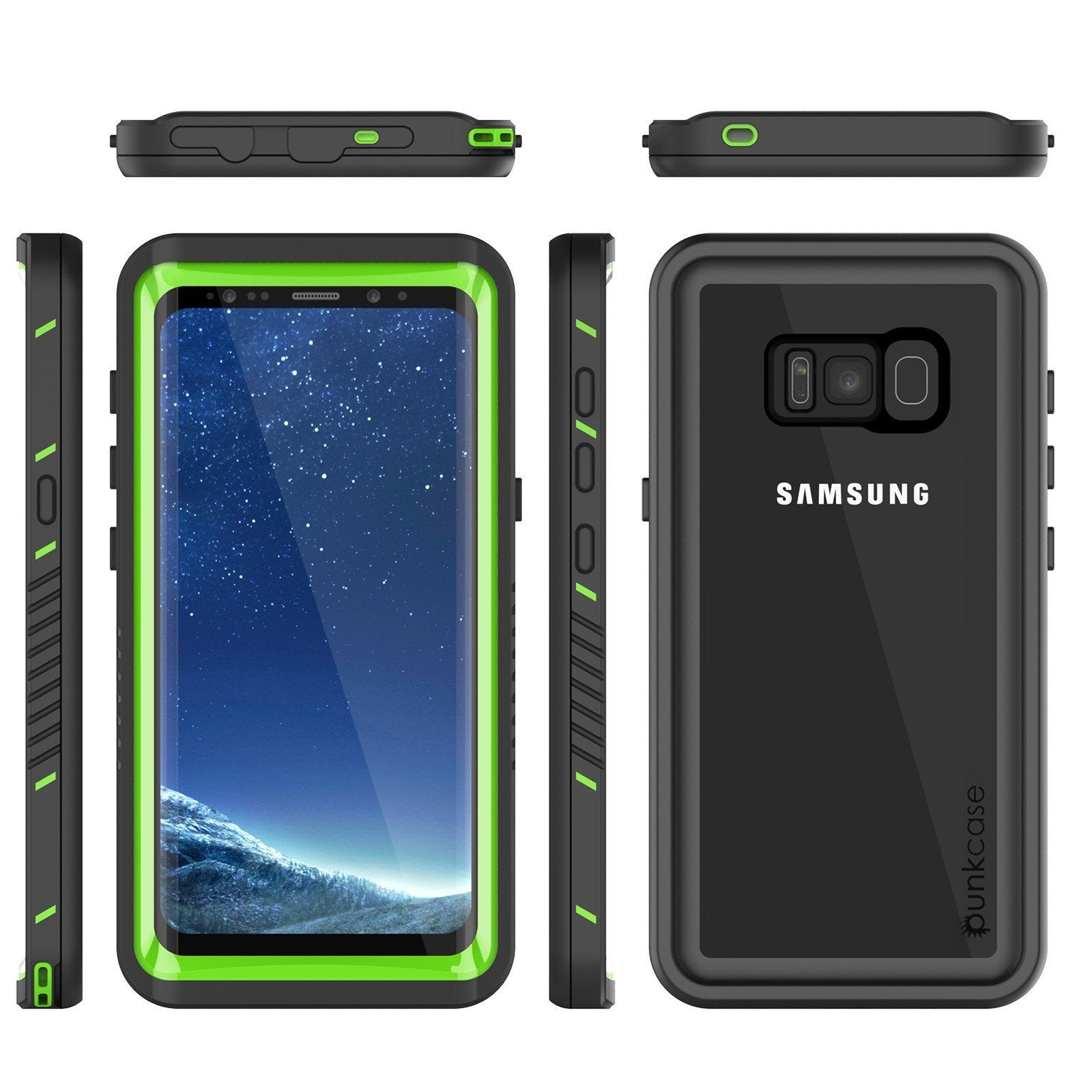 Galaxy S8 PLUS Waterproof Case, Punkcase [Extreme Series] [Slim Fit] [IP68 Certified] [Shockproof] [Snowproof] [Dirproof] Armor Cover W/ Built In Screen Protector for Samsung Galaxy S8+ [Green] - PunkCase NZ