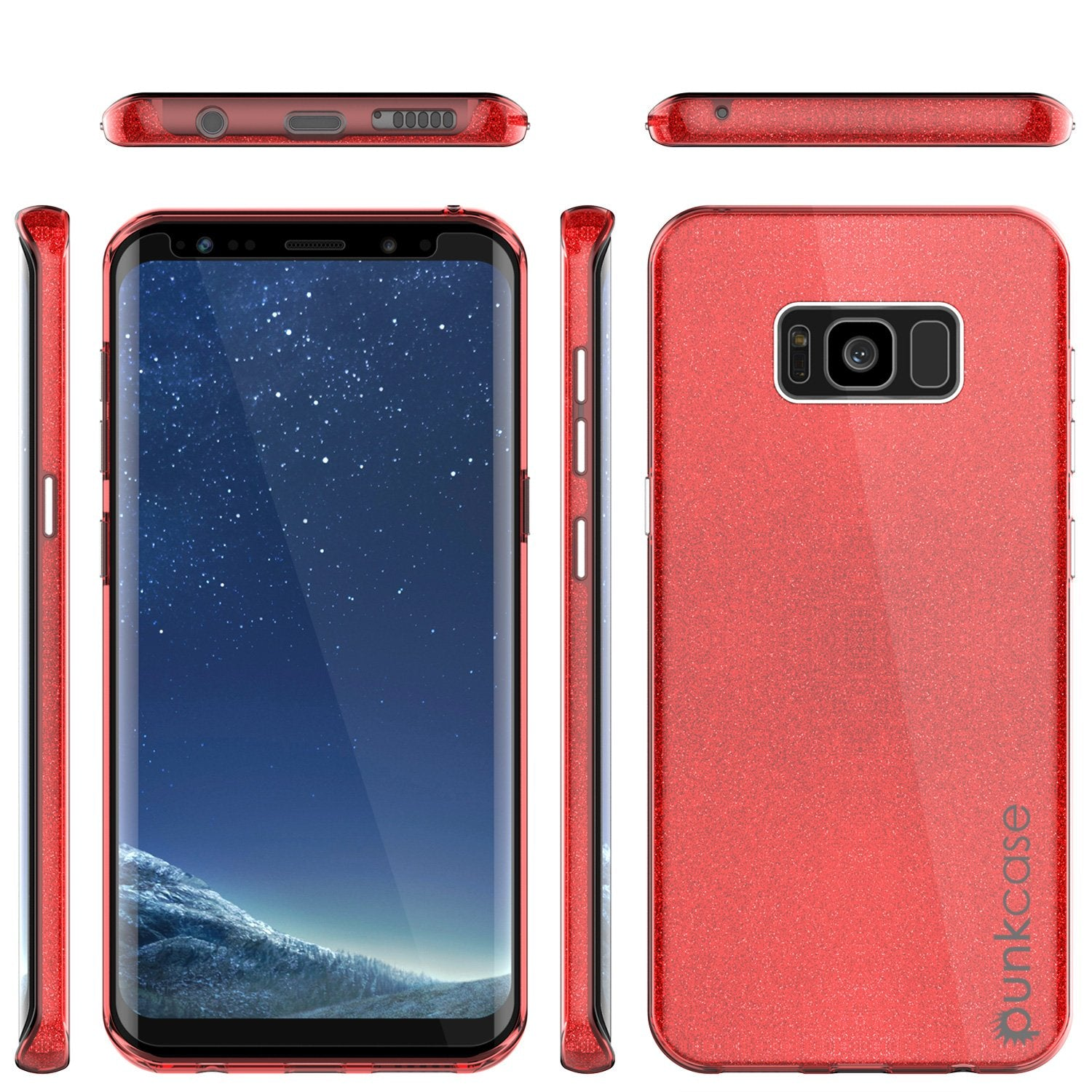 Galaxy S8 Plus Case, Punkcase Galactic 2.0 Series Ultra Slim Protective Armor TPU Cover [Red] - PunkCase NZ