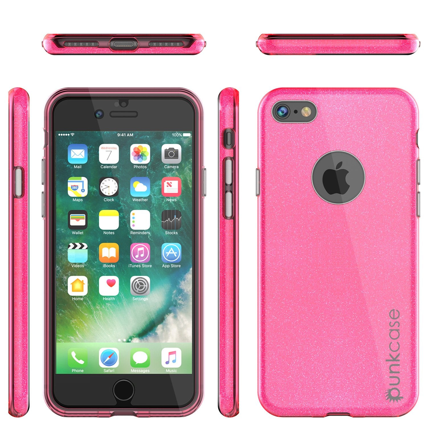 iPhone 8 Case, Punkcase Galactic 2.0 Series Ultra Slim Protective Armor TPU Cover [Pink] - PunkCase NZ