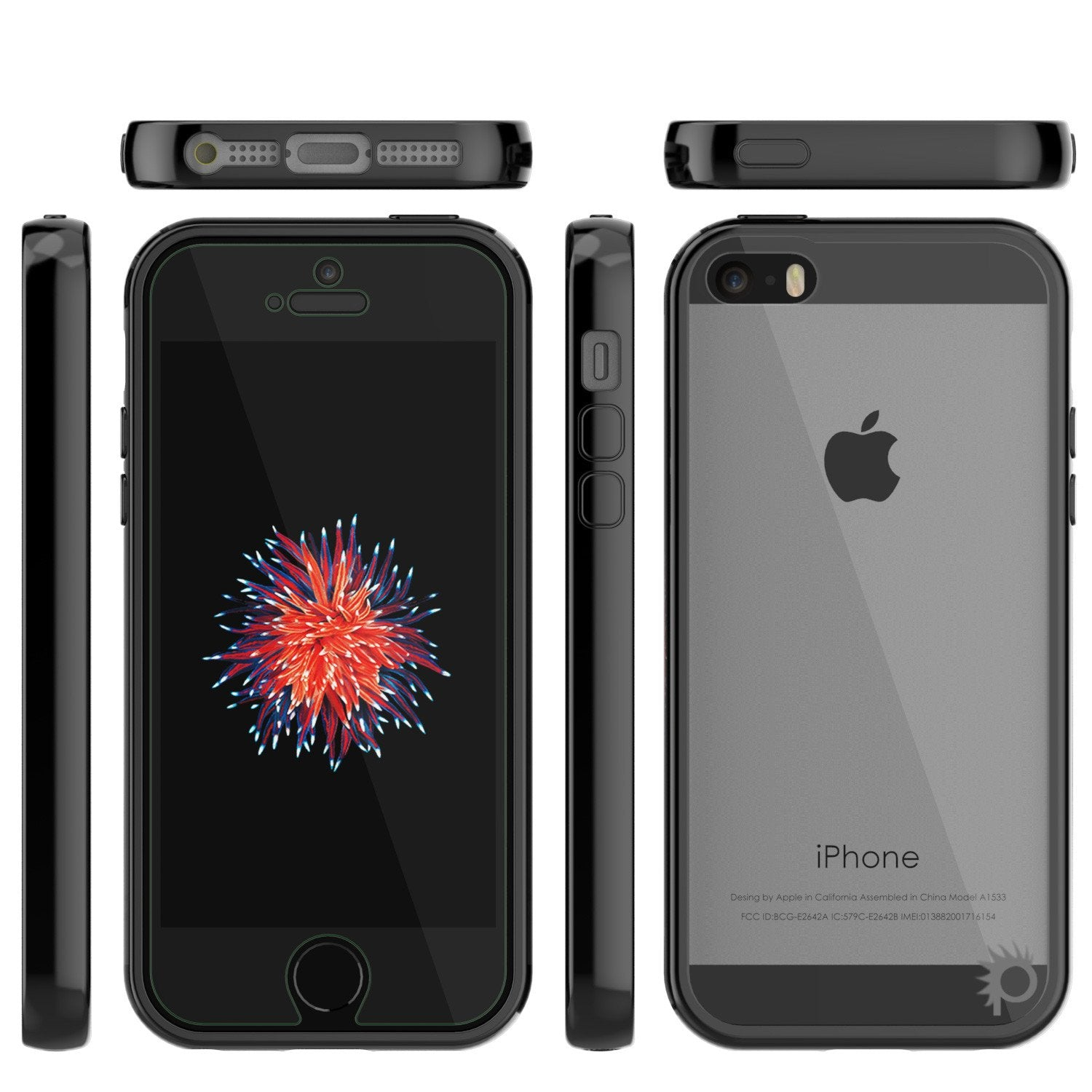 iPhone SE/5S/5 Case Punkcase® LUCID 2.0 Black Series w/ PUNK SHIELD Screen Protector | Ultra Fit - PunkCase NZ