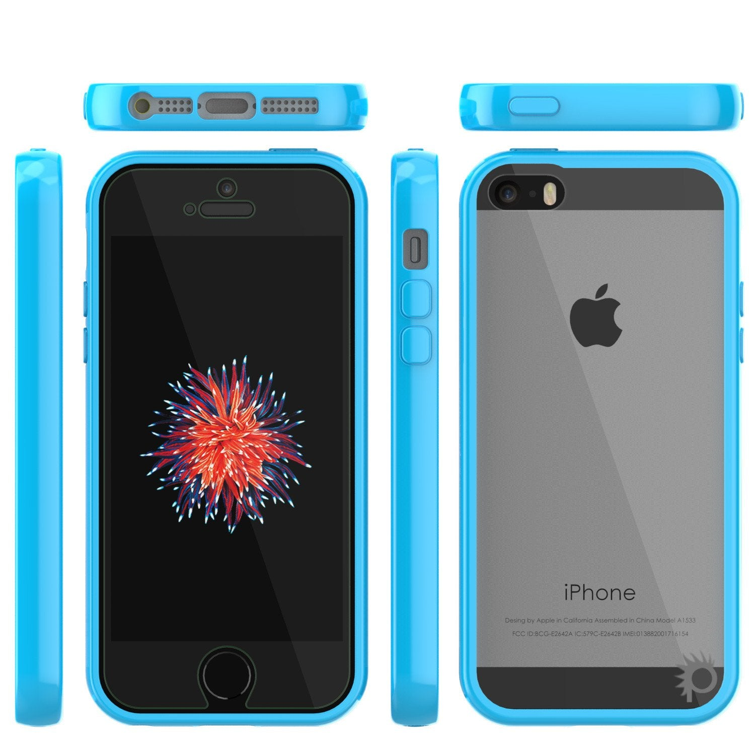 iPhone SE/5S/5 Case Punkcase® LUCID 2.0 Light Blue Series w/ PUNK SHIELD Screen Protector | Ultra Fit - PunkCase NZ