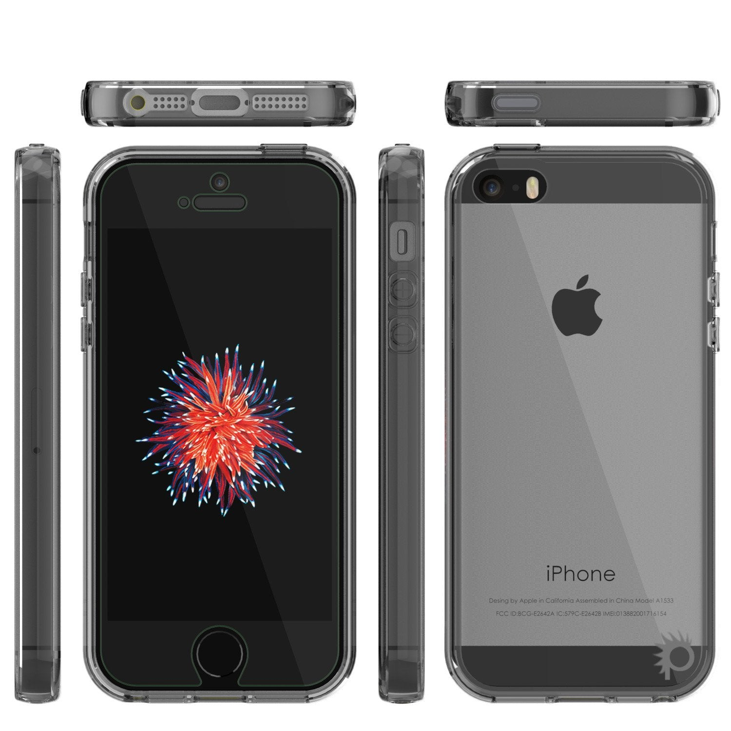 iPhone SE/5S/5 Case Punkcase® LUCID 2.0 Crystal Black Series w/ PUNK SHIELD Screen Protector | Ultra Fit - PunkCase NZ