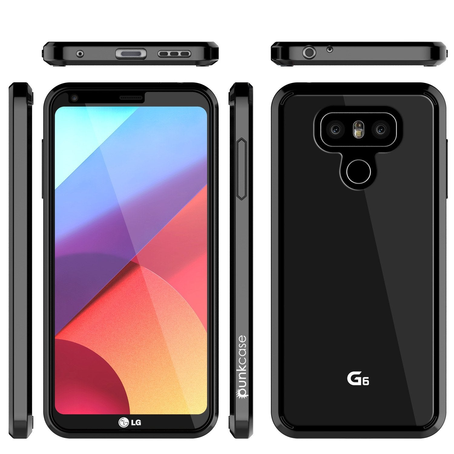 LG G6 Case Punkcase® LUCID 2.0 Black Series w/ PUNK SHIELD Screen Protector | Ultra Fit - PunkCase NZ