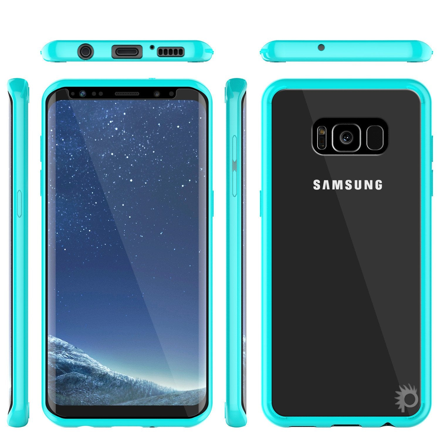 S8 Case Punkcase® LUCID 2.0 Teal Series w/ PUNK SHIELD Screen Protector | Ultra Fit - PunkCase NZ