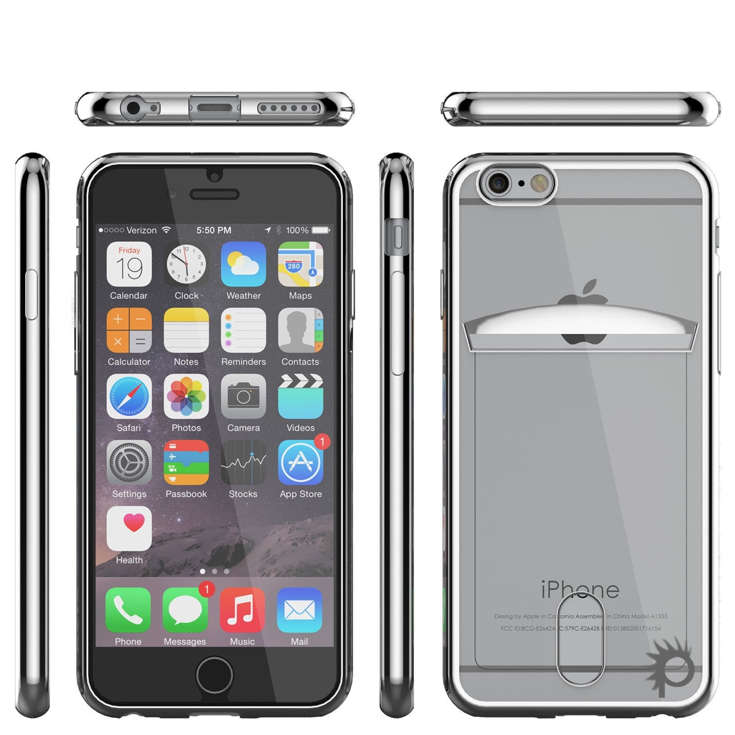 iPhone 6s+ Plus/6+ Plus Case, PUNKCASE® LUCID Silver Series | Card Slot | SHIELD Screen Protector - PunkCase NZ