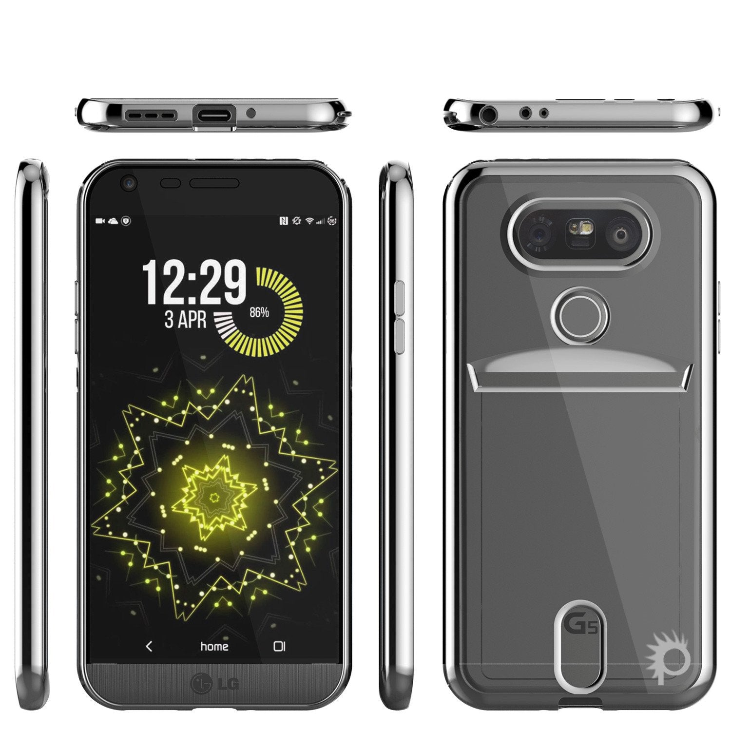 LG G5 Case, PUNKCASE® Silver LUCID  Series | Card Slot | PUNK SHIELD Screen Protector | Ultra Fit - PunkCase NZ