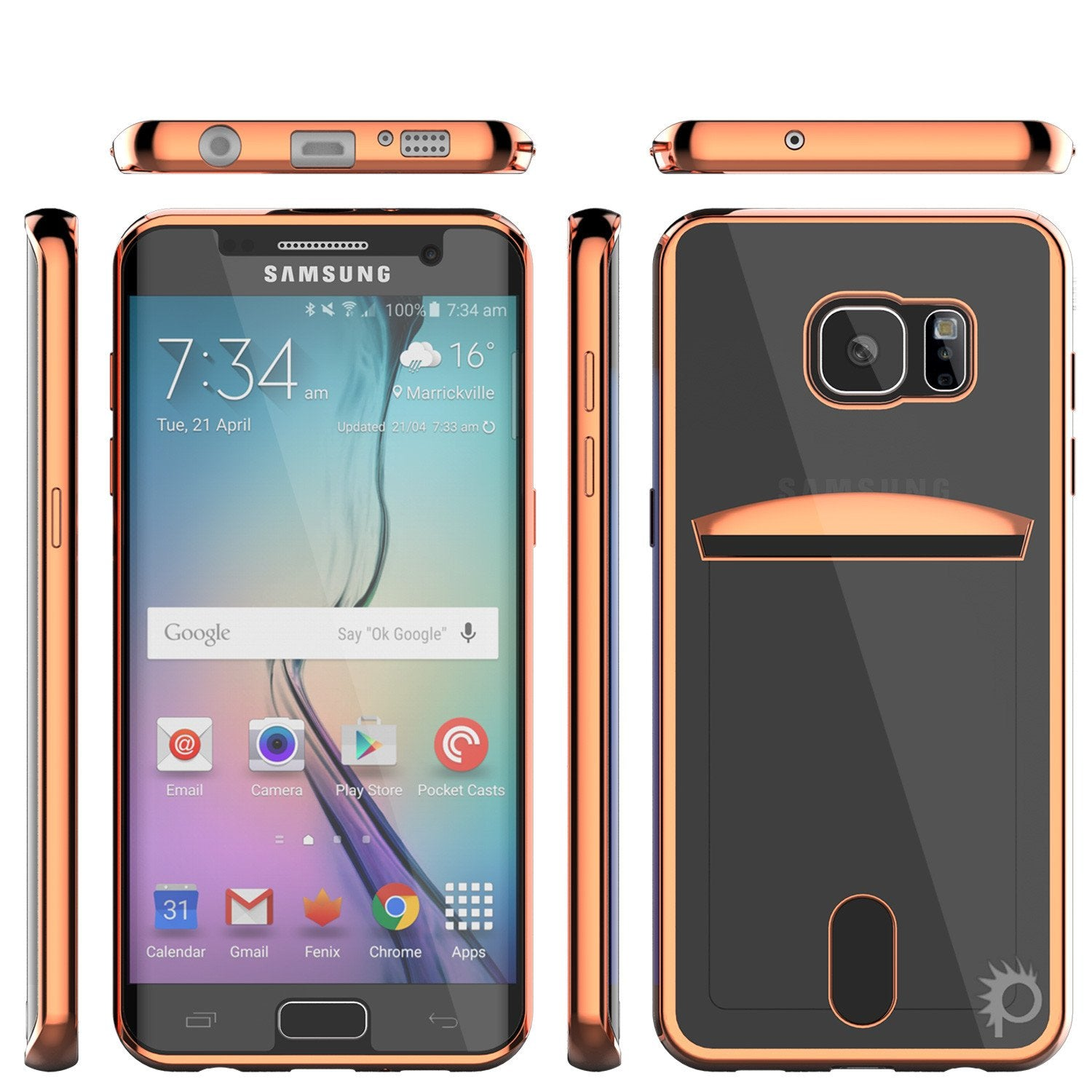 Galaxy S6 EDGE+ Plus Case, PUNKCASE® LUCID Rose Gold Series | Card Slot | SHIELD Screen Protector - PunkCase NZ
