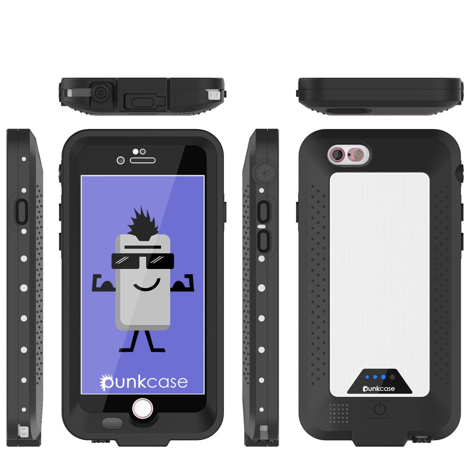 PunkJuice iPhone 6+ Plus/6s+ Plus Battery Case White - Waterproof Power Juice Bank w/ 4300mAh - PunkCase NZ